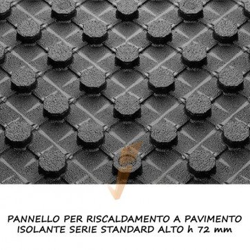 Pannello isolante serie standard alto h 72 mm