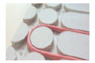 Pannello radiante 600x1200 mm h 22,5 mm misto in fibrogesso per sistemi a secco