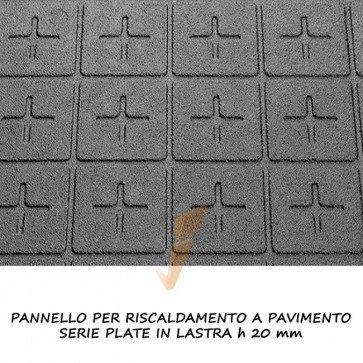 Pannello isolante serie plate in lastra altezza 20 mm