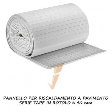 Pannello isolante serie Tape in rotolo H 40 mm