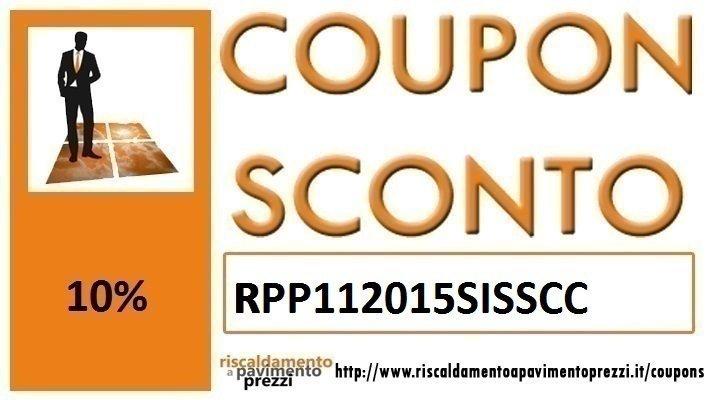 COUPON SCONTO SISTEMI A SECCO
