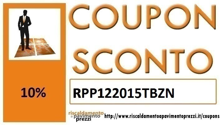 COUPON SCONTO TUBAZIONI